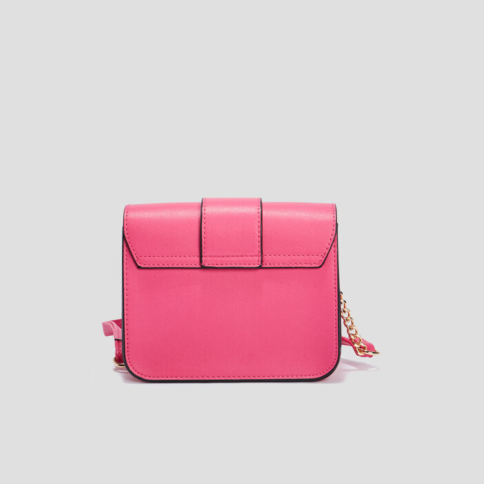 Sac besace rectangulaire femme rose