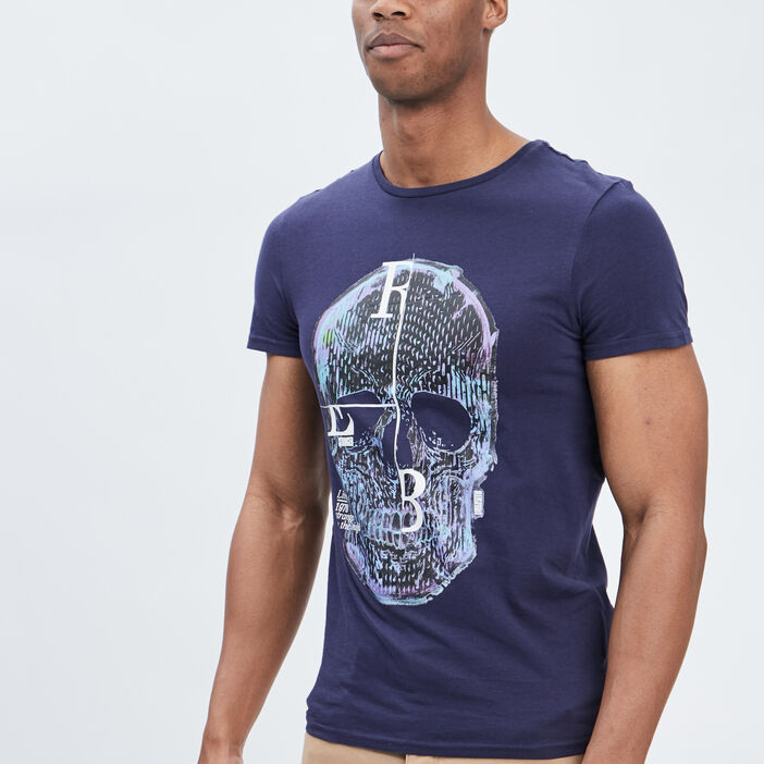 T-shirt Liberto homme bleu marine