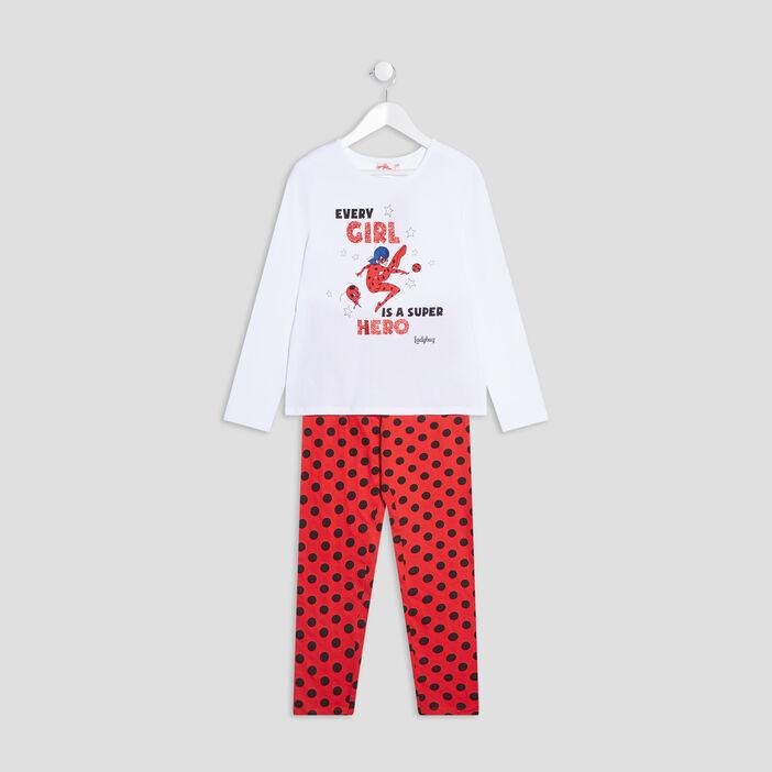 Pyjama Miraculous Ladybug fille blanc