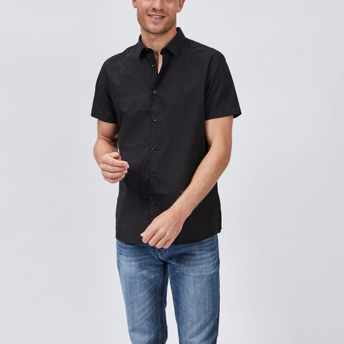 Chemise manches courtes homme noir