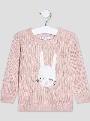 Pull manches longues Creeks vieux rose bebef