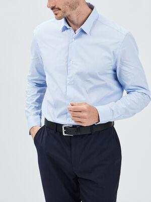 Chemise manches longues bleu ciel homme