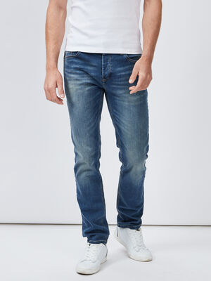 Jeans slim effet delave denim dirty homme
