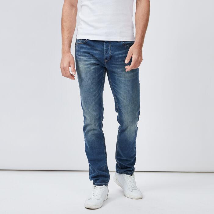 Jeans slim effet délavé homme denim dirty