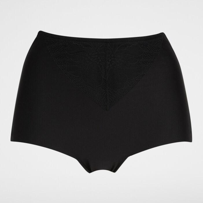 Culotte ventre plat dentelle femme noir