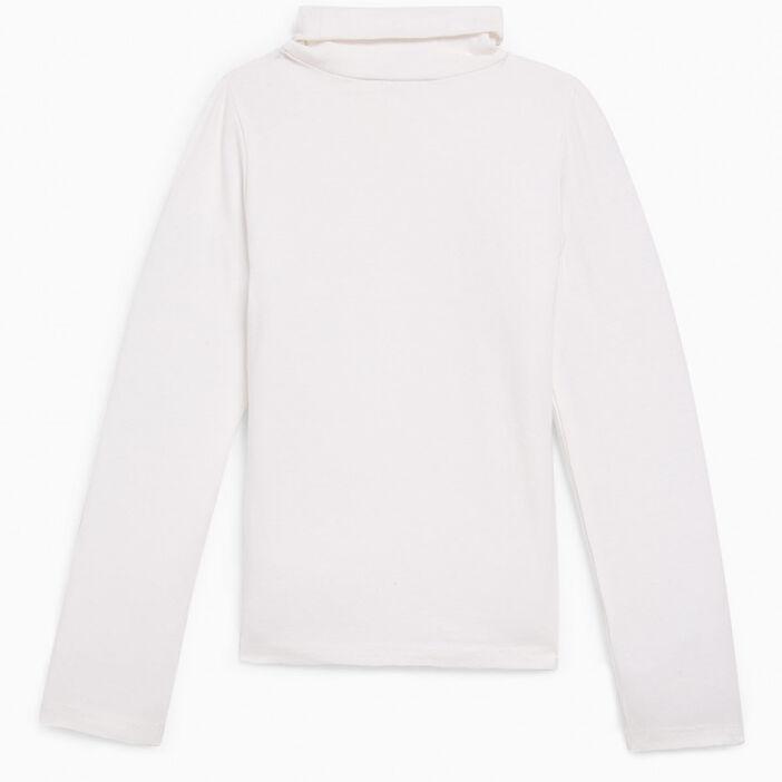 T-shirt col roulé coton majoritaire fille ecru