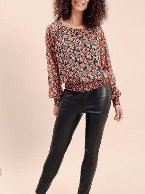 Pantalon skinny noir femme