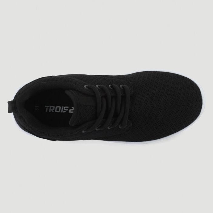 Baskets plates running homme noir