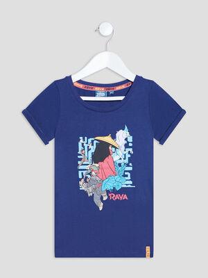 T shirt manches courtes Raya bleu marine fille