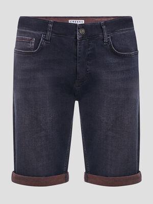 Bermuda short bleu homme
