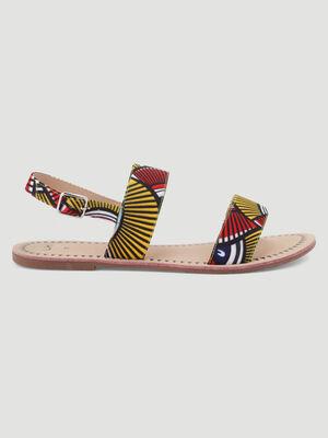 Sandales multicolore femme