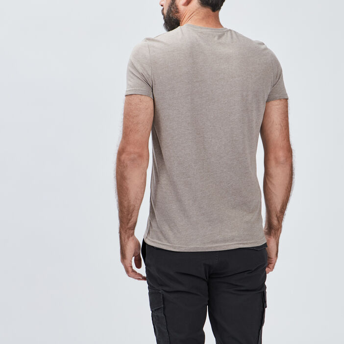 T-shirt manches courtes homme taupe