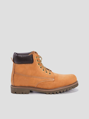 Bottines plates jaune homme