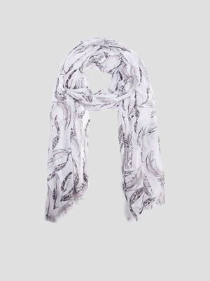 Foulard gris femme