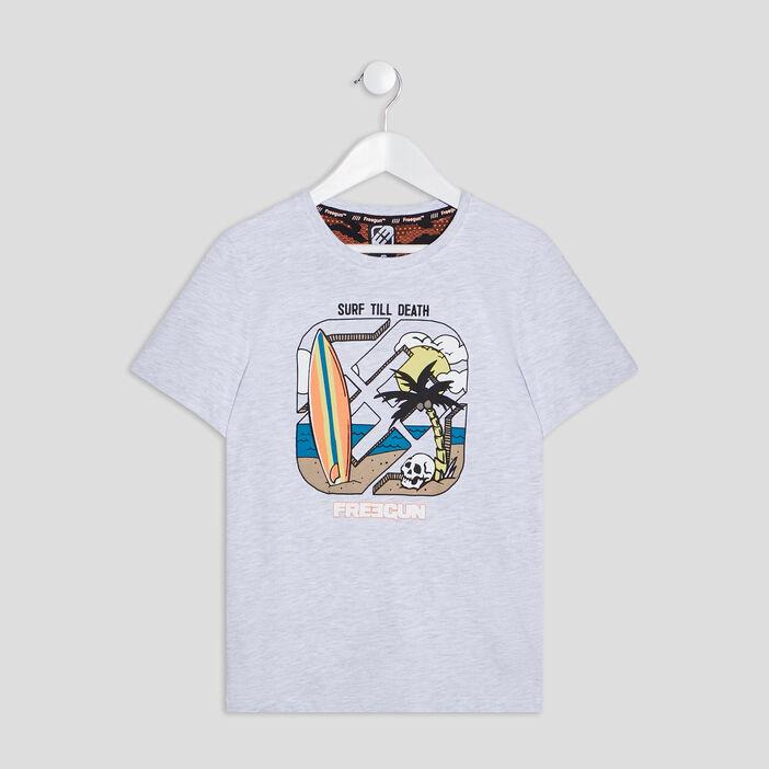 T-shirt Freegun garçon gris