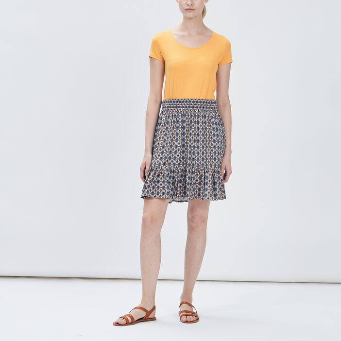 T-shirt manches courtes femme jaune