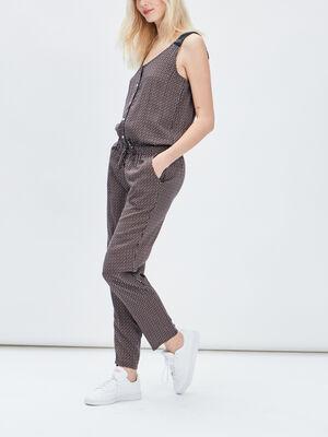 Combinaison pantalon droite orange fonce femme