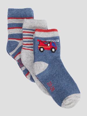 Lot 3 paires chaussettes bleu bebeg