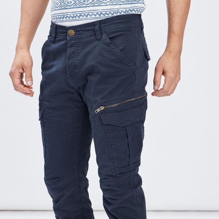 Pantalon regular Trappeur homme bleu marine
