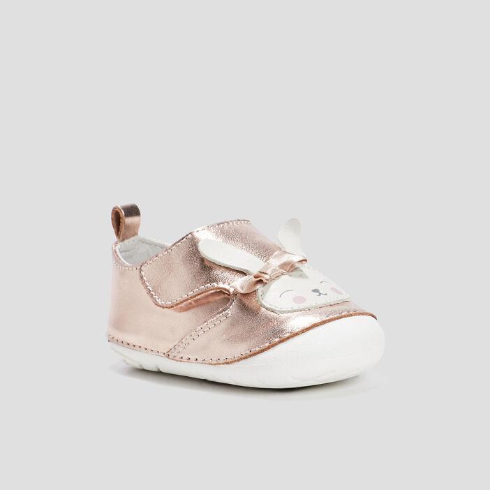 Bottines irisées bébé fille rose