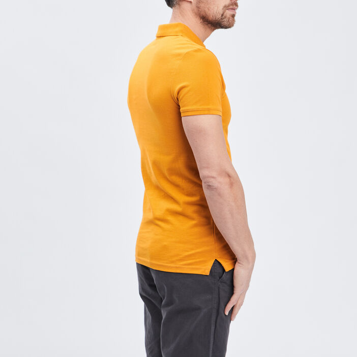 Polo manches courtes homme jaune moutarde
