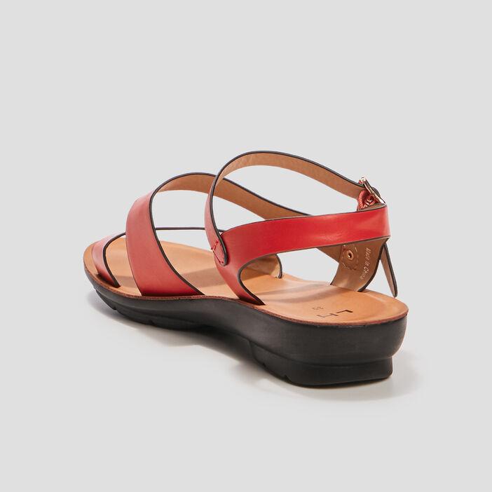 Sandales à talons femme rouge