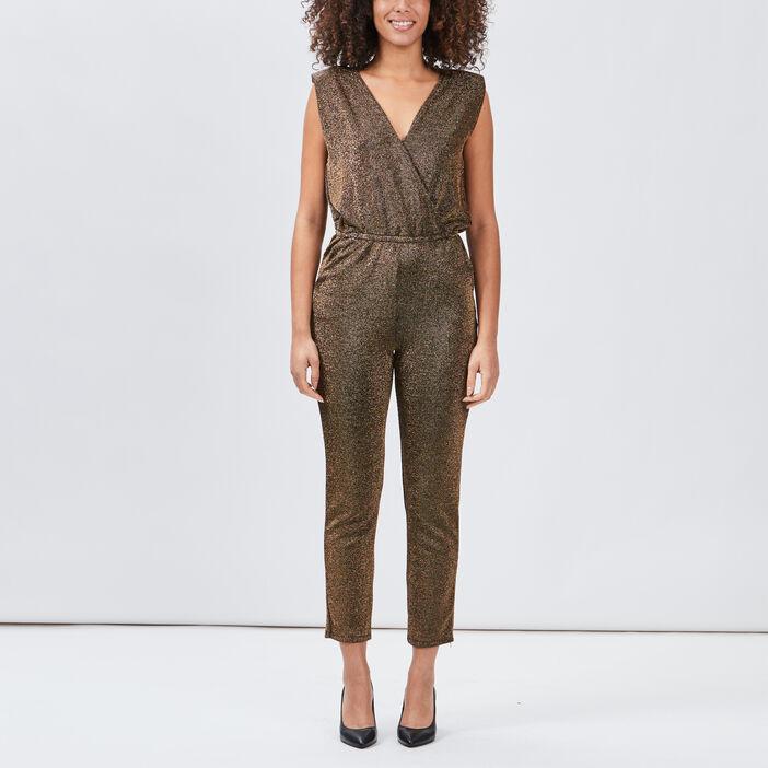 Combinaison pantalon droite femme couleur or