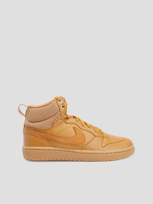 Baskets montantes Nike beige garcon