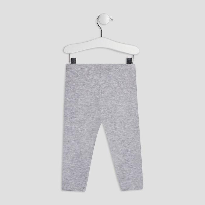 Pantalon legging bébé fille gris
