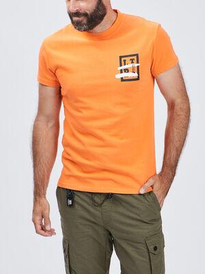 T shirt Liberto orange homme