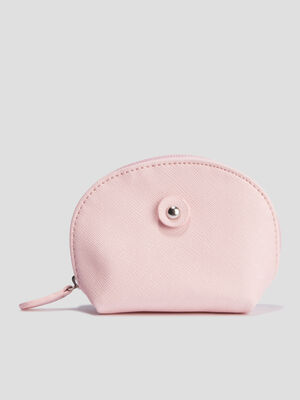 Porte monnaie arrondi rose femme