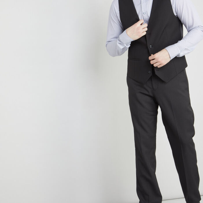 Gilet de costume sans manches homme noir