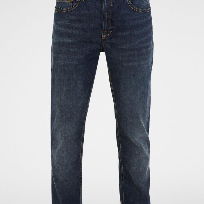 Jeans regular ceinturé homme denim stone
