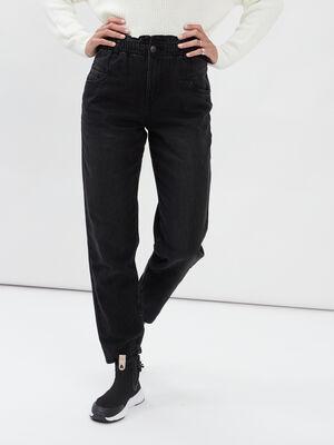 Jeans slouchy Liberto denim noir femme