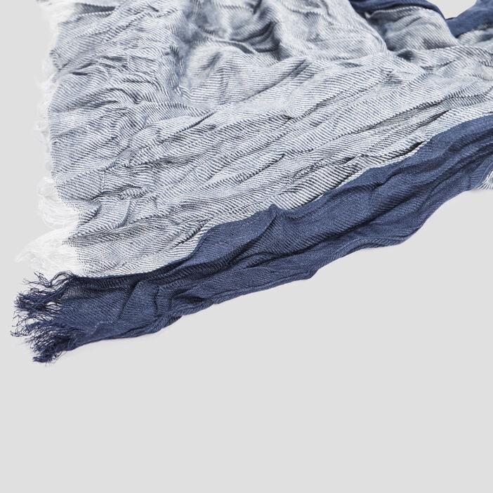 Foulard effet froissé homme bleu marine
