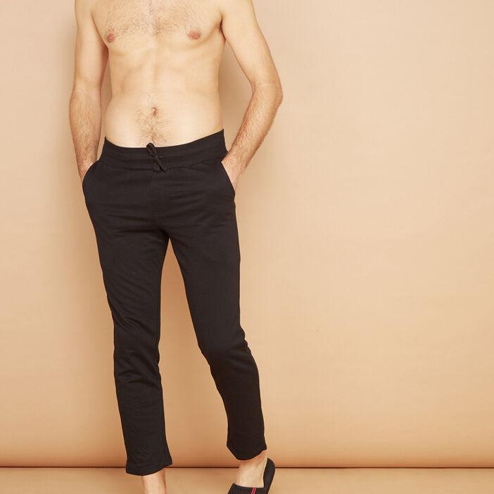 Pantalon de pyjama en coton homme noir