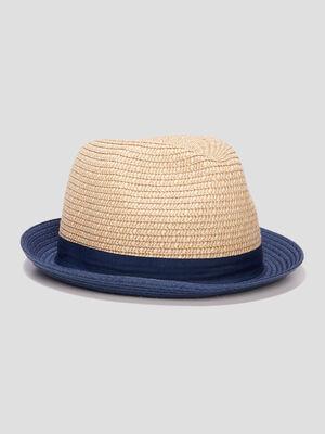 Chapeau borsa tresse bleu