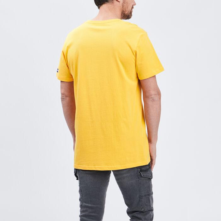 T-shirt manches courtes UCLA homme jaune moutarde