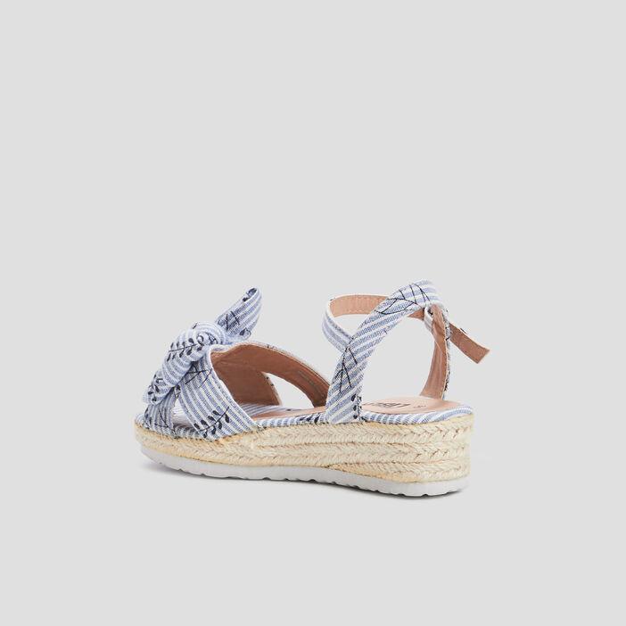 Sandales compensées Liberto fille bleu