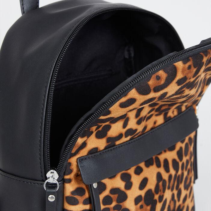 Sac à dos léopard femme multicolore