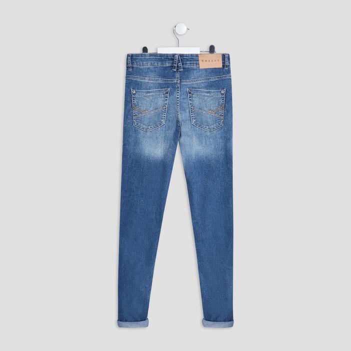 Jeans skinny Creeks garçon denim triple stone