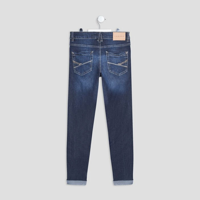 Jeans skinny Creeks garçon denim double stone