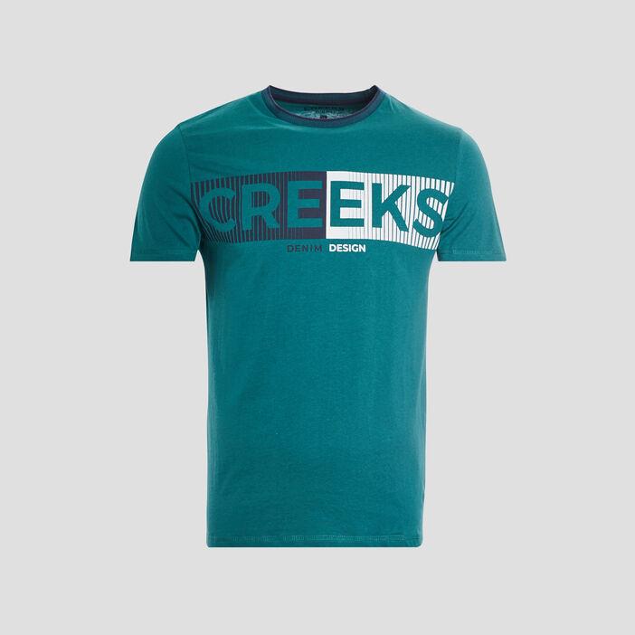 T-shirt manches courtes Creeks homme vert menthe