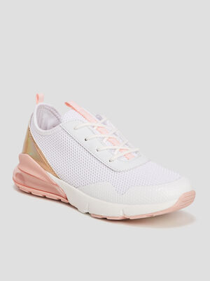 Runnings a lacets blanc fille