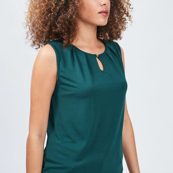 Débardeur bretelles larges femme vert émeraude