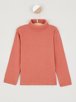 T shirt manches longues orange fonce garcon