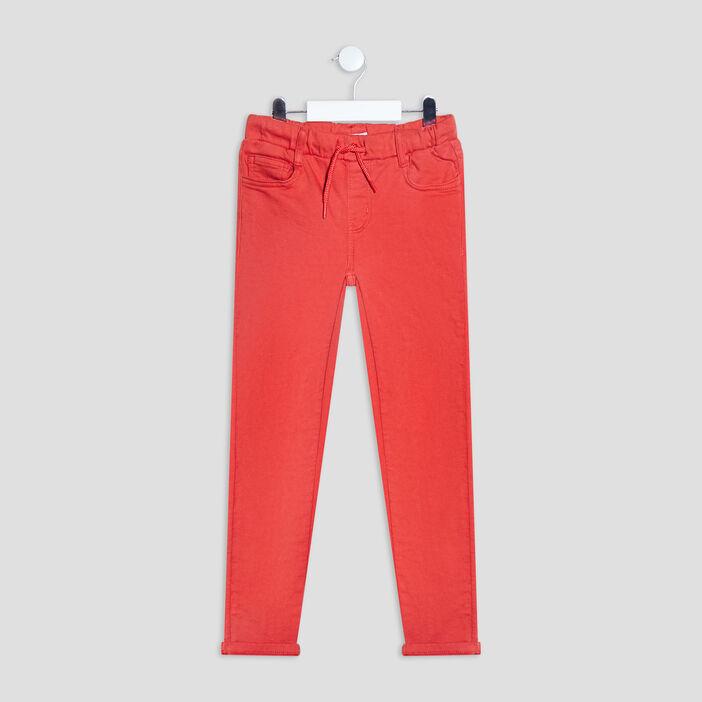 Pantalon jegging à coulisse garçon orange foncé