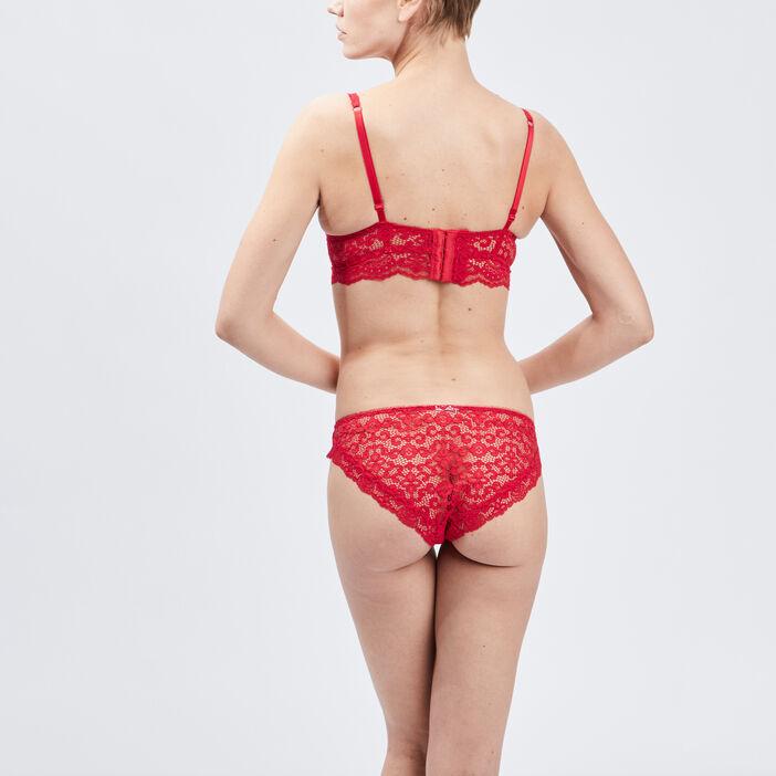 Soutien-gorge triangle foulard femme rouge