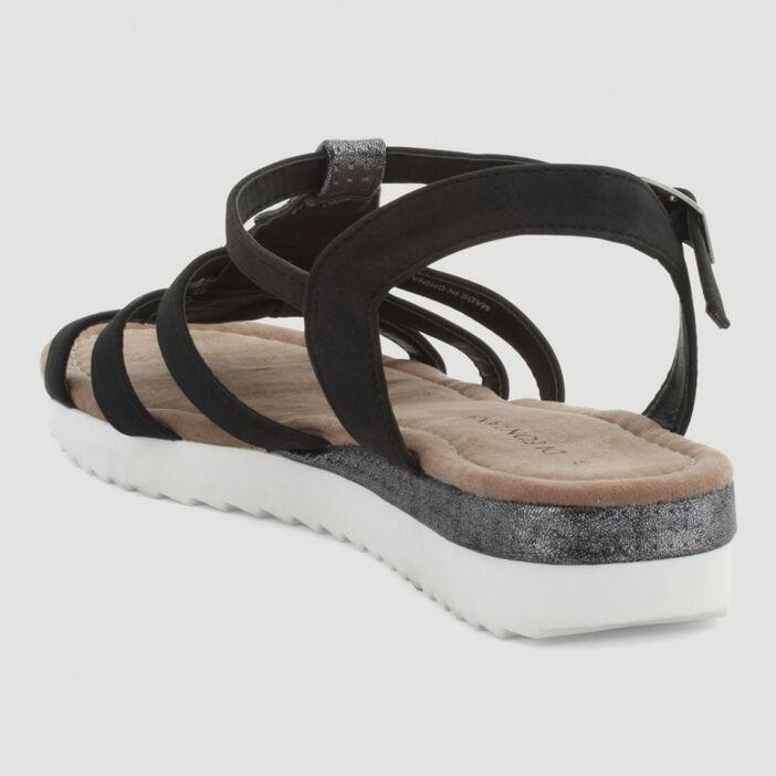 Sandales tige fantaisie femme noir