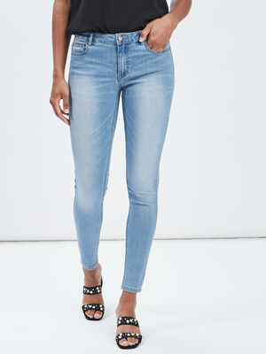 Jeans skinny taille basse denim double stone femme